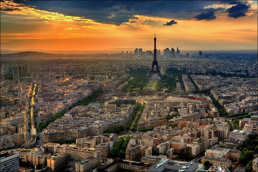 Paris and the Eifel Tower